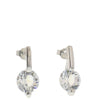 Nour Round Crystal Small Drop Earrings - Silver NMA76E-SC