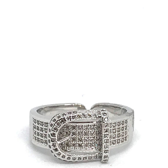 Nour Silver Buckle Ring