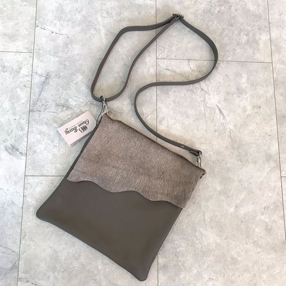 Owen Barry Stevie Leather Bag - Donkey Clay