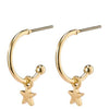 Pilgrim Ava Gold Small Hoop Earrings