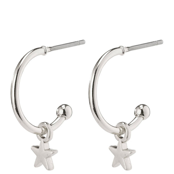 Pilgrim Ava Silver Small Hoop Earrings