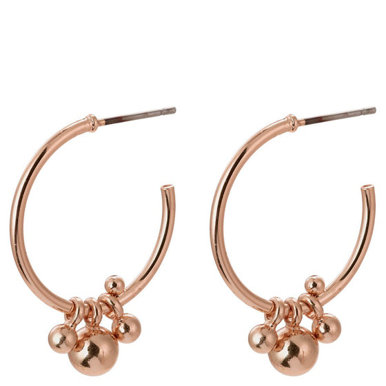 Pilgrim Earth Rose Gold Hoop Earrings