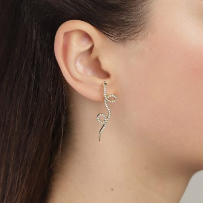 Pilgrim Ebba Gold Snake Earrings