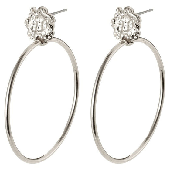 Pilgrim Feelings of LA Silver Hoop Earrings