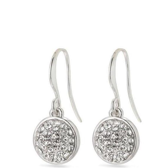 Pilgrim Heather Silver Drop Earrings