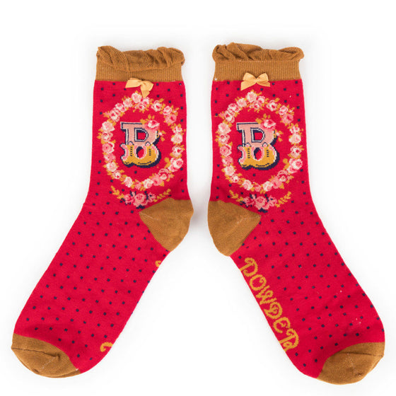 Powder Initial B Ankle Socks