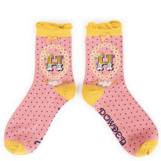 Powder Initial H Ankle Socks