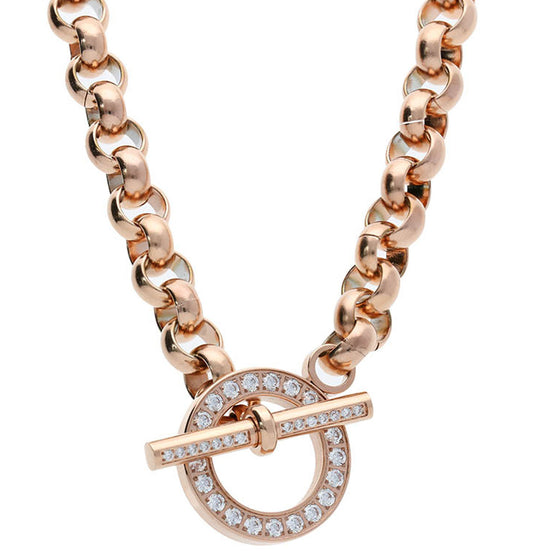 Qudo Ceccano Rose Gold Deluxe Necklace