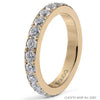 Qudo Thick Eternity Ring - Gold