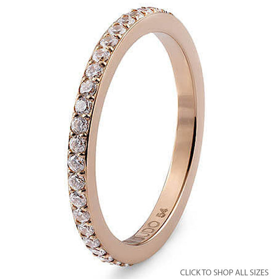 Qudo Fine Eternity Band - Rose Gold