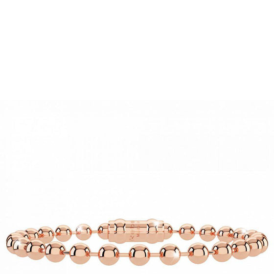Rebecca My World Thick Ball Rose Gold Bracelet - Kids Length