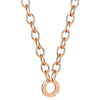 Rebecca My World Chunky Link Rose Gold Horseshoe Necklace