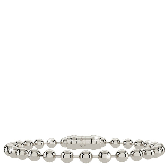 Rebecca My World Thick Ball Silver Bracelet