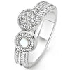 Ti Sento Silver Double Ring - Size 54