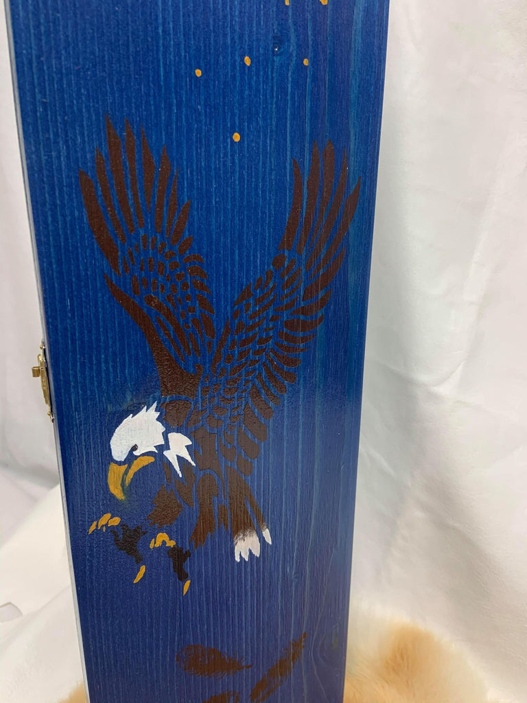 Wooden Feather Carrier - Eagle
