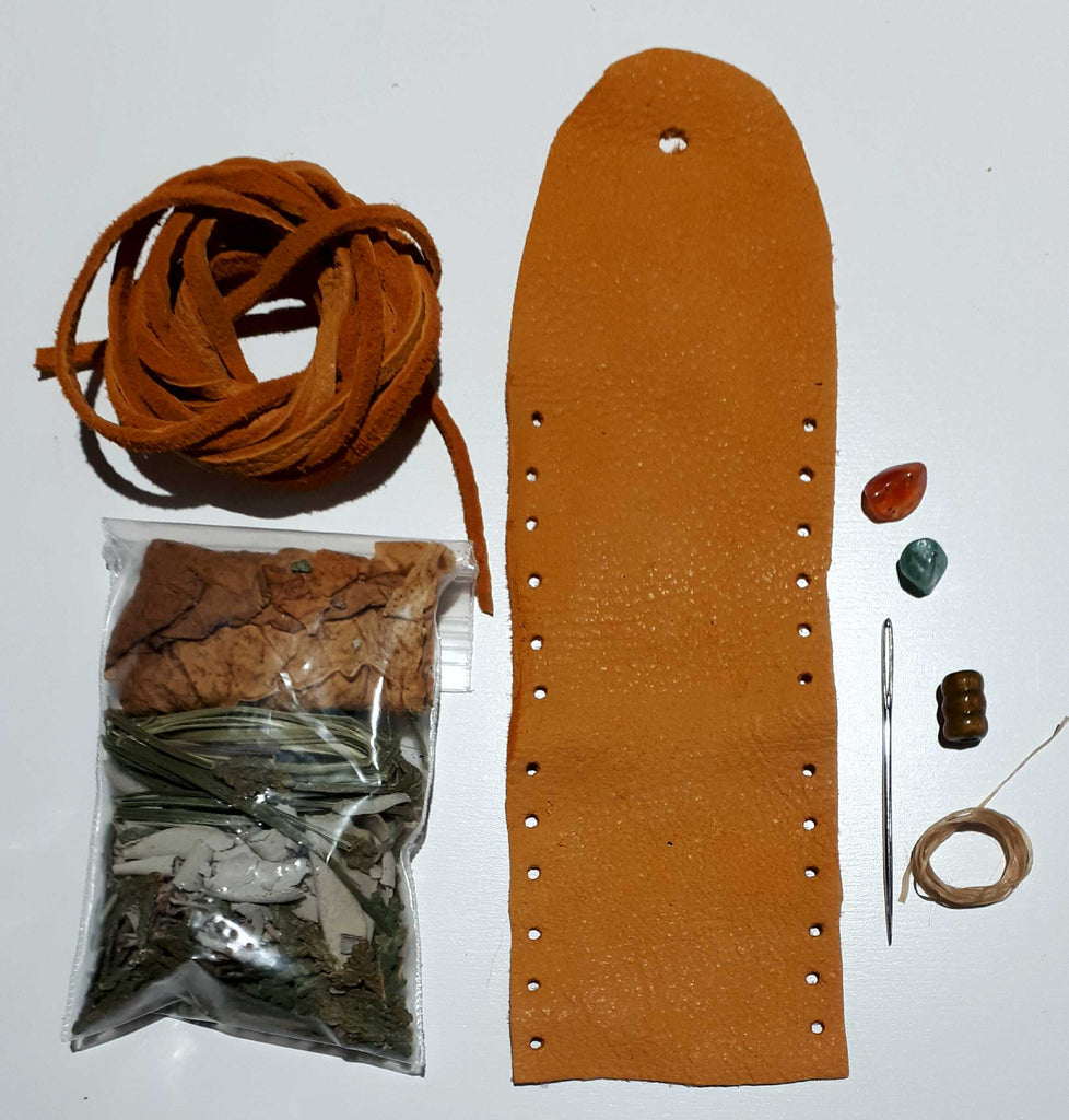 "Pouches - Deer Hide Medicine Bag Kit (Size is 2""x2"" plus strap) PRE-ORDERS ONLY"