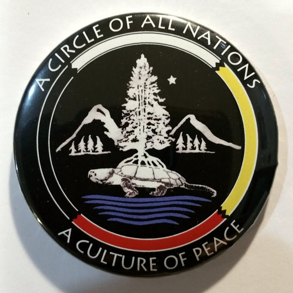 "Pinback Button - Circle of All Nations (2.25""/5.5 cm)"