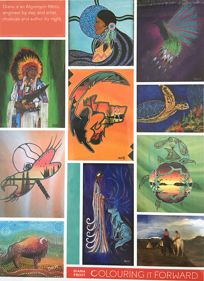 Colouring Book - Discover Cree Nation Art & Wisdom