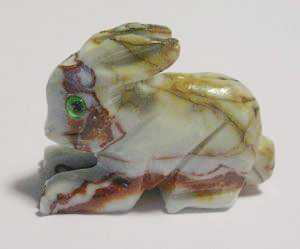 "Soapstone - Rabbit (1.5"") made in Peru"