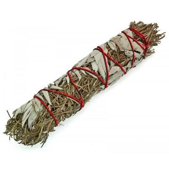 "SMUDGE STICK - WHITE SAGE & ROSEMARY 8-9""/20-23 cm"