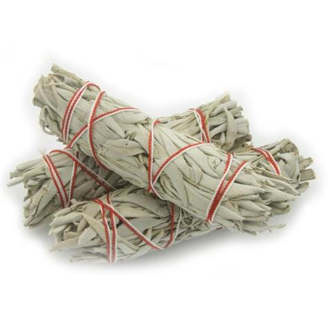 "SMUDGE STICK - WHITE SAGE 4""/10 cm (Salvia apiana)"