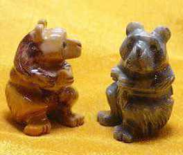 "Soapstone - Bear (Honey Bear) (1.5"") made in Peru"
