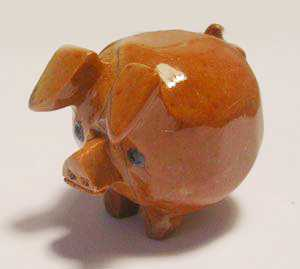 "Soapstone - Pig (Chubby) (1.5"") made in Peru"