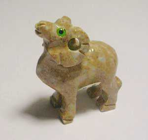 "Soapstone - Ram (1.5"") made in Peru"