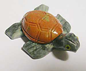 "Soapstone - Turtle (Sea Turtle) (1.5"") made in Peru"