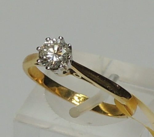 18ct Solitaire Diamond Ring, 0.25ct