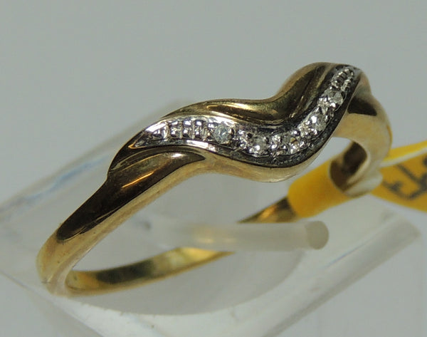 Diamond Set Wishbone Ring.