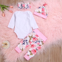 Load image into Gallery viewer, Floral Cute Outfit 4 Piece - BbiesShoes | Official Site  babyclothes babyshoes babyfashion toddlersclothes