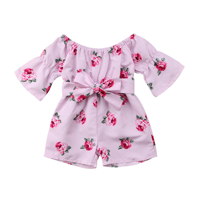 Pink Flower Dress/Overalls - BbiesShoes | Official Site  babyclothes babyshoes babyfashion toddlersclothes