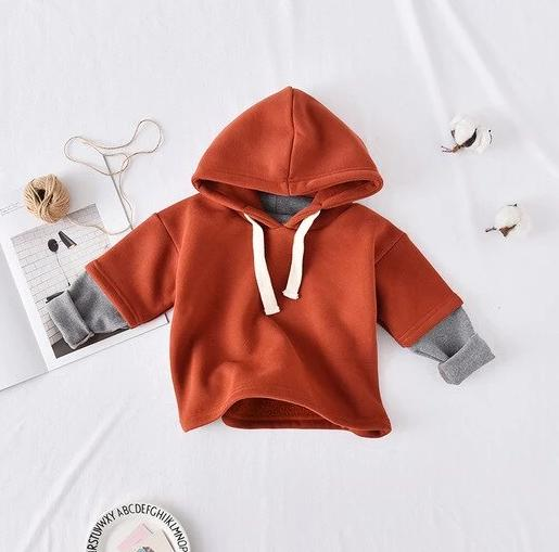 Velvet Hoodies Fake Two Piece - BbiesShoes | Official Site  babyclothes babyshoes babyfashion toddlersclothes