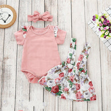 Load image into Gallery viewer, Party Flower Outfit 3 Piece - BbiesShoes | Official Site  babyclothes babyshoes babyfashion toddlersclothes