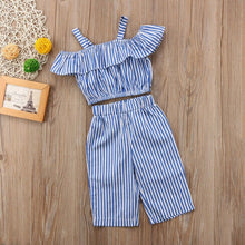 Load image into Gallery viewer, Striped Cotton Outfit 2 Piece - BbiesShoes | Official Site  babyclothes babyshoes babyfashion toddlersclothes