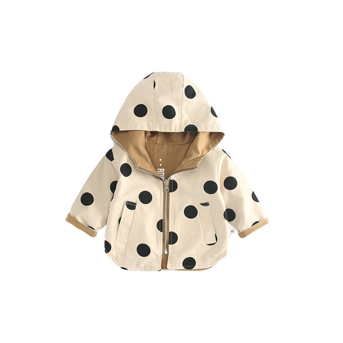 Reversible Dot Coat - BbiesShoes | Official Site  babyclothes babyshoes babyfashion toddlersclothes
