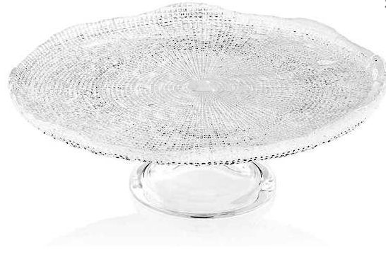 Diamante Footed Cake Plate 32cm