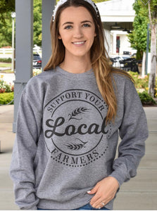 Support local farmers sweatshirt