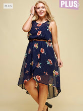 Load image into Gallery viewer, Floral tulip skirt dress with belt