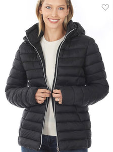 Puffer Jacket w/ Removable hood
