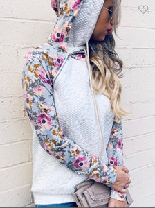 Floral Double Hoodie with pockets