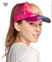 Load image into Gallery viewer, Tie dye CC pony Cap