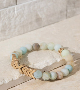 Natural stone Chevron Bracelet