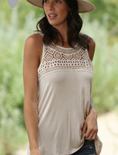 Load image into Gallery viewer, Crochet Lace tank