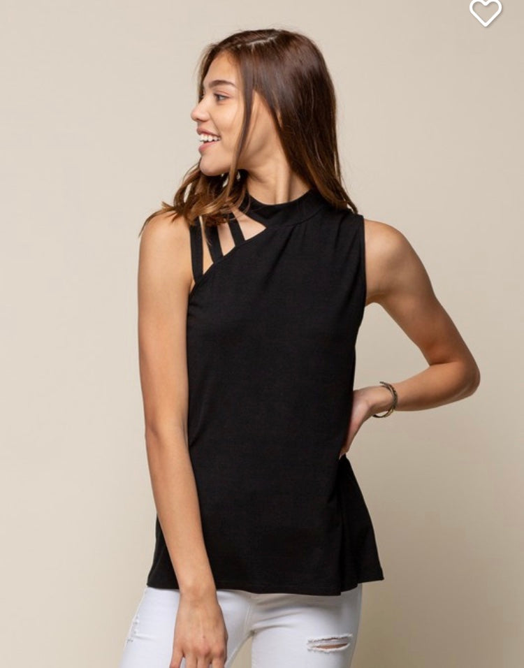 Strappy one shoulder top