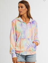 Load image into Gallery viewer, Tie dye zip up Hoodie