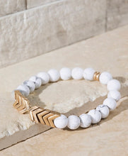 Load image into Gallery viewer, Natural stone Chevron Bracelet