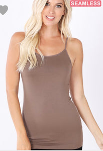 Seamless Adjustable strap cami