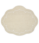 Linho Oval Linen Mat Dark Natural - Set of 2